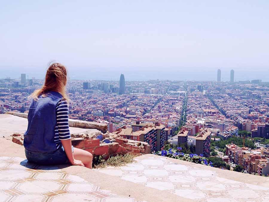 Vista panoramica di Barcellona, Spagna