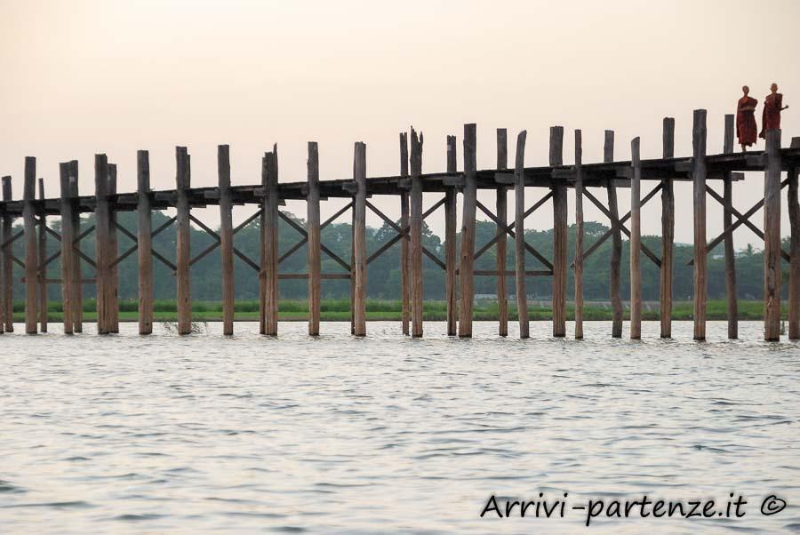 Ponte U'bein ad Amarapura, Myanmar