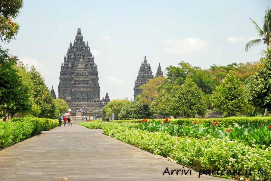 Sito di Prambanan sull'isola di Java, Indonesia
