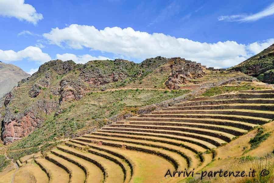 Terrazzamenti di Pisac nella Valle Sacra, Perù