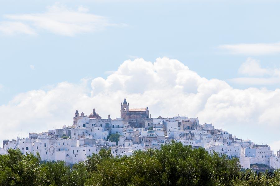 Vista panoramica di Ostuni, Puglia