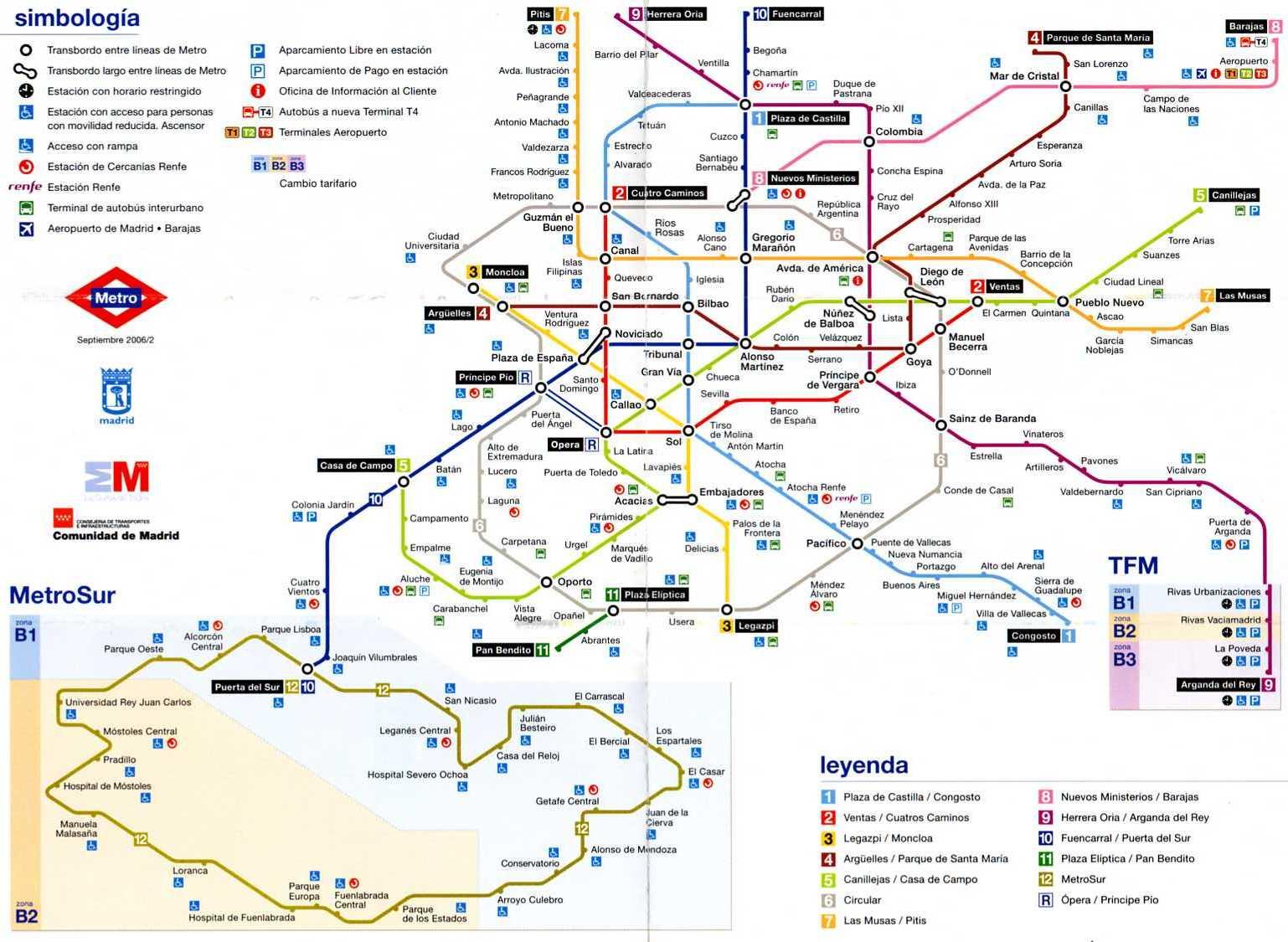 Cartina Metro Barcellona.Mappa Metropolitana Di Madrid Arrivi Partenze It