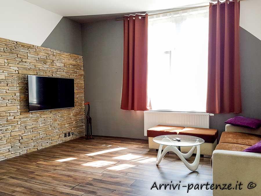 Salotto dell'appartamento Apartsee a Pilsen, Repubblica Ceca