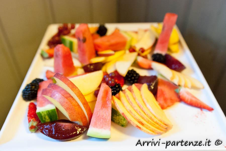 Frutta a colazione presso il Tenimento Al Castello di Sillavengo, Novara
