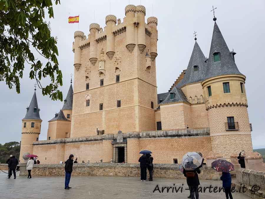 Esterno dell'Alcazar di Segovia, Spagna