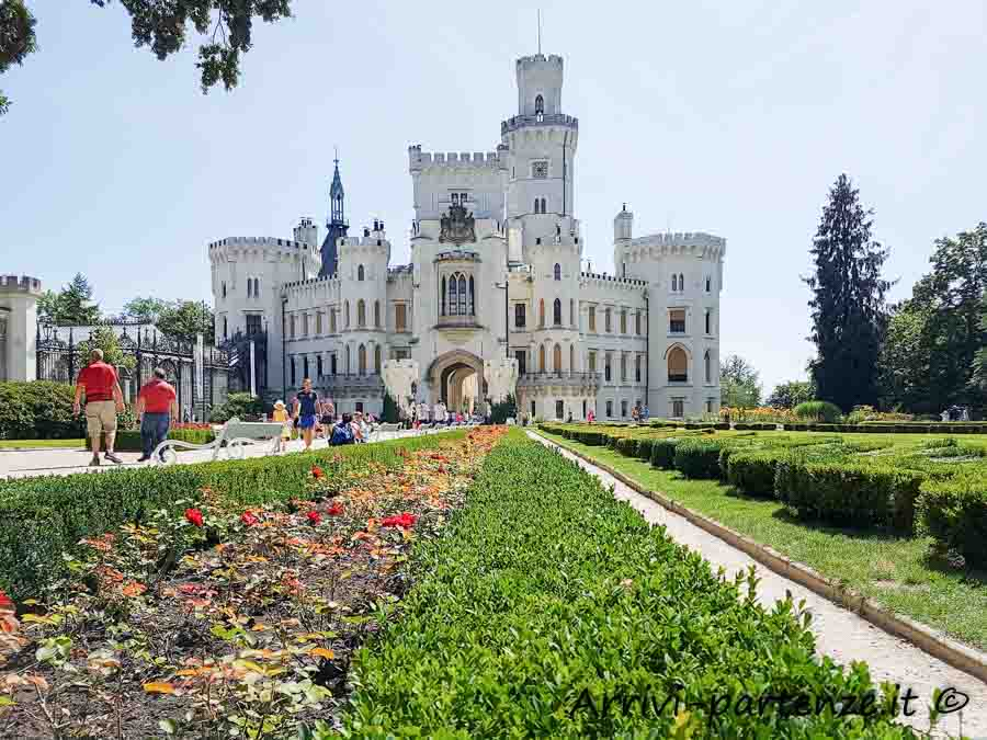 Castello Hluboká nad Vltavou in Repubblica Ceca
