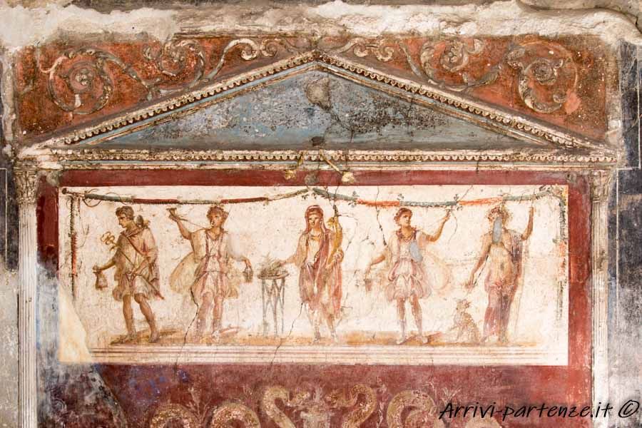Particolare di un dipinto di una villa romana, Pompei