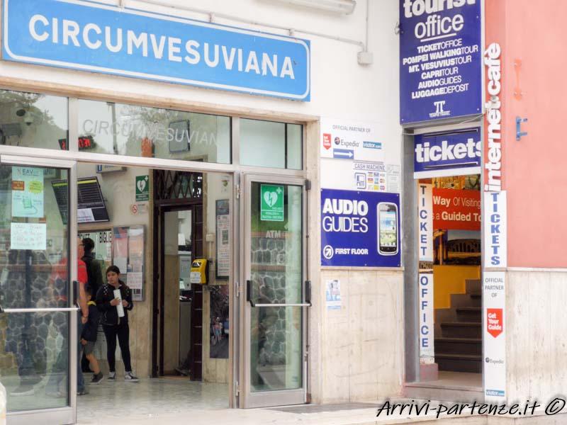 Stazione della circumvesuviana di Pompei