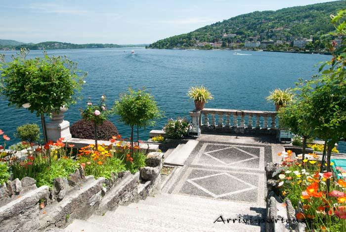 Vista panoramica dell'Isola Bella, Piemonte