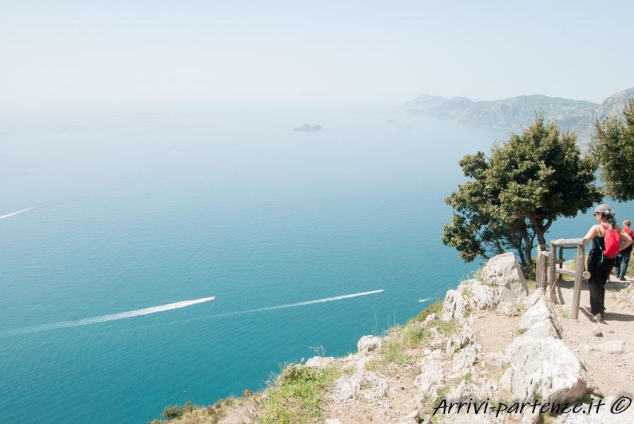 Vista panoramica del Sentiero degli Dei, Costiera Amalfitana