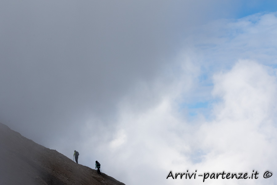 Escursionisti presso la Marmolada, Trentino-Alto-Adige