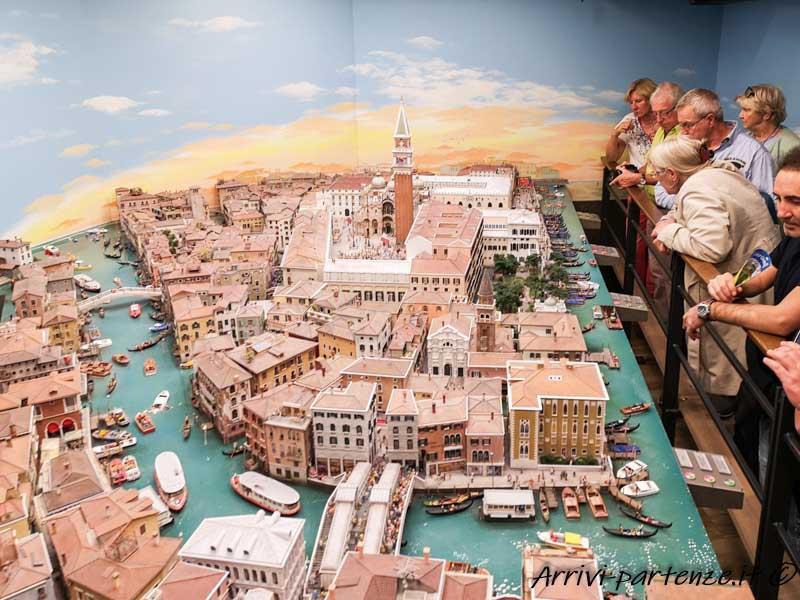 Panoramica di Venezia al Miniatur Wunderland di Amburgo, Germania