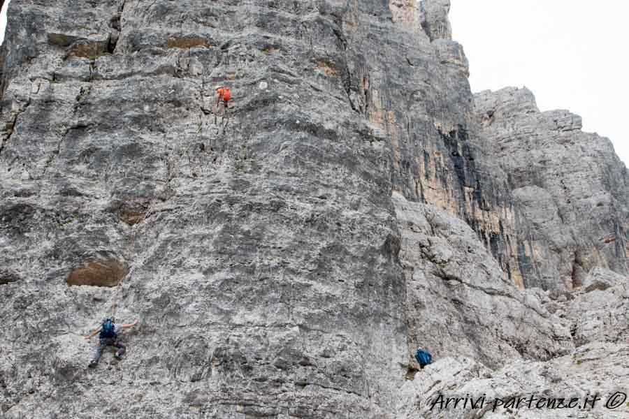 Climbers presso le 5 Torri, Trentino Alto-Adige