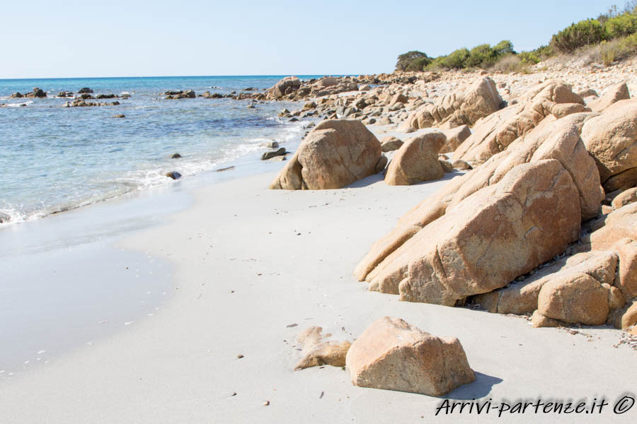 Spiaggia nell'Oasi di Biderosa, Sardegna
